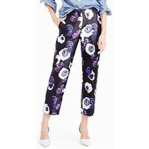 Floral cropped pants JCrew